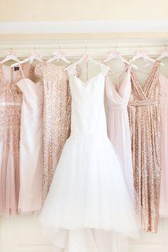 blush rose brides maids dresses, blush toned wedding, pantone pale dogwood, dusty rose, dusty pink, blush rose, blush pink, rose quartz, rose gold, cream, blush beige