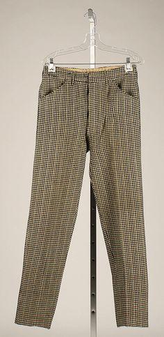 Trousers  Date: 1911 Culture: American Medium: wool
