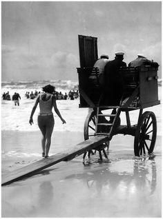Martin Munkacsi - Movable lifeguard tower, Germany, c.1929