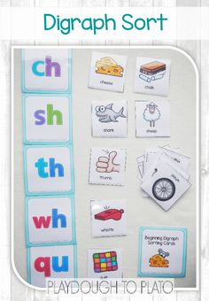Activity for ages 5 to 7. Once kids learn stand alone letter sounds, they're ready to tackle digraphs – two letter combinations that make just one sound like the pairs -CH, -SH and -TH. Just like our digraph cards, this simple sort and find is a motivating, hands-on way to make learning them fun for …
