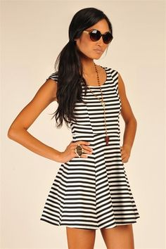 Blanc Stripe Dress - Black  http://www.studentrate.com/itp/get-itp-student-deals/Necessary-Clothing-Student-Discount--/0