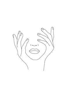 amazing line art sketches aesthetic Lauren Weiss Shop Minimal Art, Outline Art, Hand Outline, Flower Outline, Outline Drawings, Doodle Tattoo, Minimalist Drawing, Minimalist Wallpaper, Minimalist Painting