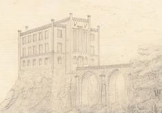 Design for a hunting castle (anonymous architect, 1828) +