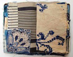 Thread and Thrift: Blue Book (fabric book) by Mandy Pattullo Textile Fiber Art, Textile Artists, Art Journaling, Impression Textile, Textiles Sketchbook, Art Du Fil, Altered Book Art, Fabric Art, Fabric Books