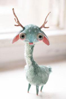 Cute Fantasy Creatures, Cute Creatures, Magical Creatures, Living Dolls, Fairy Dolls, Soft Sculpture, Art Plastique, Felt Animals, Unique Art