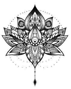 Fresh WTFDotworkTattoo Find Fresh from the Web #zin #drawing #lotus #dotwork…