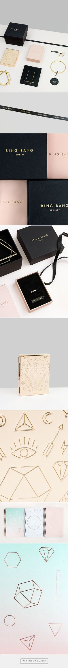 Bing Bang Jewelry Branding & Packaging on Behance by Verena Michelitsch Curated by Packaging Diva PD simple and beautiful created via https://www.behance.net/VerenaMichelitsch