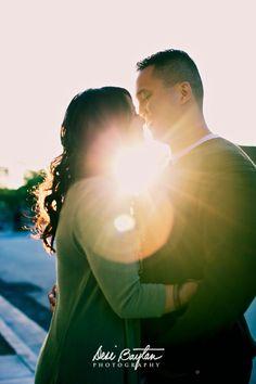 sun burst couple photo