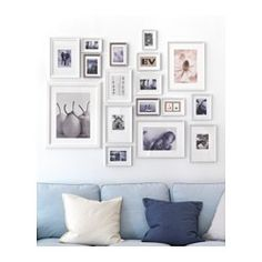 IKEA - MÅTTEBY, Wall hanging template, set of 4, Create a personal collage with the wall template.You can split the wall collage template into smaller collages and display your art in different ways.
