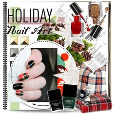 """Holiday Nail Art"" by nastya-d on Polyvore"