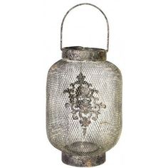 A&B Home Ophira Golden Hanging Candle Lantern - Set Of 2
