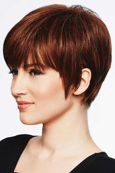 """A classic """"boy cut"""", the Hairdo SHORT TEXTURED PIXIE CUT wig features textured bangs and all over precision tapered layers that blend into a neck-hugging nape. Short Pixie Haircuts, Long Bob Hairstyles, Short Hair Cuts, Short Hair Styles, Best Pixie Cuts, Braid Hairstyles, Textured Pixie Cut, Thick Pixie Cut, Pixie Cut Back"""