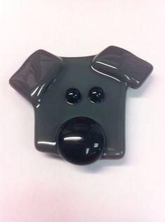 Dog Magnets Fused Glass Magnet Dog Magnet Dog by LaRocheStudios, $6.50
