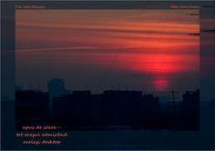 sunset - the whole city gazing at the same desktop soleil couchant - toute la ville admire le même écran Sonnenuntergang - die ganze Stadt bewundert denselben Desktop
