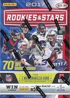 Unwrap new inserts for 2017 including Airborne Rookie Rush and more! Football Box, Football Cards, Hockey Cards, Trading Cards, Nfl, Wrestling, Stars, Lucha Libre, Picture Cards