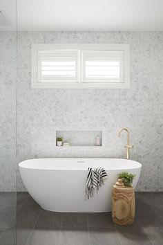 Marble clad master bathroom with modern tub charlestonhomes – Marble Bathroom Dreams Bathroom Renos, Laundry In Bathroom, Bathroom Furniture, Marble Bathrooms, Bathroom Ideas, Antique Furniture, Shower Ideas, Family Bathroom, Remodel Bathroom
