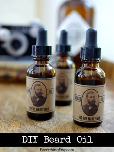 DIY Beard Oil and Printable Labels for Dad on Father's Day