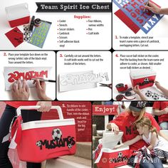 Is it your turn to provide treats for the team?  Personalize your cooler with this DIY design to carry snacks and drinks for everyone!