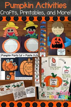 Is your class learning about pumpkins? Check out this amazing activities filled with pumpkin crafts, printables, multiple day lesson plant, and more!