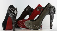 """Ophelia Gothica."" Sexy heels that come in three colors."