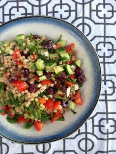 Whole Wheat Greek CousCous Salad