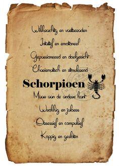 Schorpioen -23-10 t/m 21-11