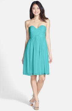 Donna Morgan 'Morgan' Strapless Silk Chiffon Dress (Regular & Plus) | Nordstrom