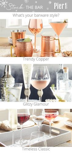 Pier 1's one-of-a-kind glassware turns any occasion into a celebration—and makes it fun for your guests to show off their mad mixology skills. From copper to crystal and beyond, we have toast-worthy drinkware for every personality.