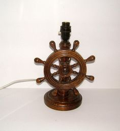 Ships wheel chandelier design from historic record swc2222 my 1930s ships wheel oak table lamp base vintage by biminicricket aloadofball Images