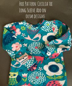 Free Pattern: Long Sleeve Cecilia Top Add On - Once Upon a Sewing Machine Sewing To Sell, Sewing For Kids, Baby Sewing, Sewing Patterns Free, Free Sewing, Free Pattern, Sewing Hacks, Sewing Tutorials, Sewing Tips