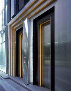 Gallery of De Beers Ginza Building / Jun Mitsui & Associates Architects - 7 Signage Design, Facade Design, Door Design, Exterior Design, Elevator Design, Retail Facade, Lift Design, Facade Lighting, Door Detail