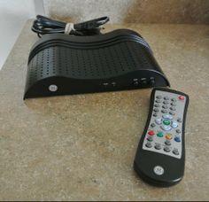 GE 22729 Digital to Analog TV DTV Converter Box W/ REMOTE Works great Nice #GE