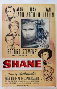 Shane- The man comes from nowhere to save people and then go back to nowhere. The savior motif. Remade as Pale Rider with Clint Eastwood with a heavier hand on the motif.