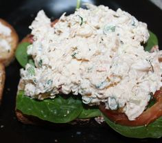 Creamy Chicken Salad.  Rotisserie Chicken shredded OR 2 cans white meat chicken, drained, flaked with fork.  1/2 cup Mayo  1 red pepper (I am not using this)  1 stalk celery, thinly sliced  3 slices green onion, diced  1 boiled egg, cooled, coarsely chopped
