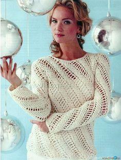Пуловер крючком для женщины Icecles из Crochet Today. Обсуждение на LiveInternet - Российский Сервис Онлайн-Дневников
