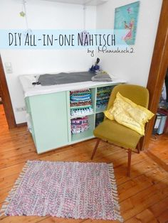 nähtisch für nähzimmer selber bauen Organisation Hacks, Room Organization, Craft Room Design, Sewing Rooms, Diy Interior, Sweet Home, Table, Furniture, Ikea Hacks