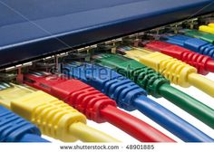 Photo about Multi colored ethernet network cables connected to a router / switch isolated on white background. Image of colored, connect, cabling - 13467270 Electrician Sydney, Electrician Services, Rainbow Colors, Vibrant Colors, Router Switch, Computer Network, Photo Colour, Over The Rainbow, Colors