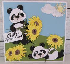 Maria's kaartjes: Veel zonnebloemen