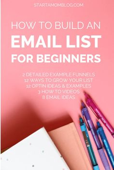 How to Build an Email List for Beginners - Email Marketing - Start your email marketing Now. - How to Build an Email List for Beginners E-mail Marketing, Marketing Website, Email Marketing Design, Marketing Online, Email Marketing Strategy, Email Design, Marketing Digital, Affiliate Marketing, Business Marketing