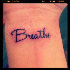 Breathe wrist tattoo