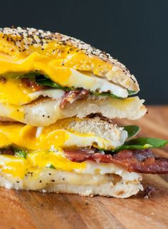 Everything Bagel Grilled Cheese Breakfast Sandwich: