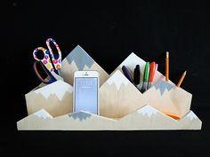 How to make a mountain desk organizer - Dream a Little Bigger