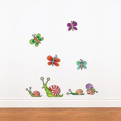 Snails (mini) Wall Decal Wall Decal