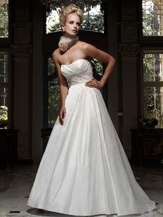 A-line Sweetheart Taffeta Court Train Beading Wedding Dresses Shop uk