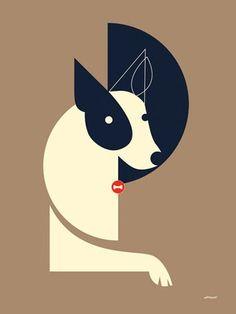 """Mod Dog Shadow"" canvas wall art by Eleanor Grosch for GreenBox Art + Culture $59"