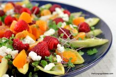 Endive Salad with Raspberries & Clementines & Goat Cheese from The Hungry Goddess #hgeats