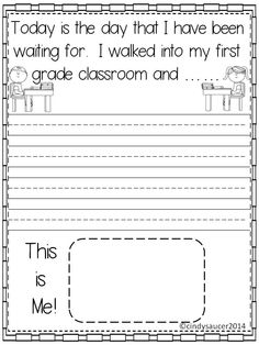 FREE This is a writing activity for grades or Students will write about their first day of school. This is the perfect activity to access your student's writing ability on the first day of school. 1st Day Of School, Beginning Of The School Year, Back To School, Activities For Boys, Writing Activities, Grade 1, Second Grade, First Grade Classroom, Memory Books