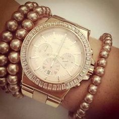 MK watch and bracelet