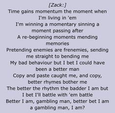 zacks rap in kitchen sink |-/ i can finally do it now!<<HOOOOOOWWWWWWWWWWWWWWW IM A DECENT RAPPER AND I CANT EVEN SAY A SINGLE WORD