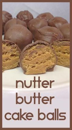 Little Delights Cakes: Nutter Butter Cake Balls - Easy & Good Candy Recipes, Sweet Recipes, Cookie Recipes, Dessert Recipes, Just Desserts, Delicious Desserts, Yummy Food, Yummy Treats, Sweet Treats